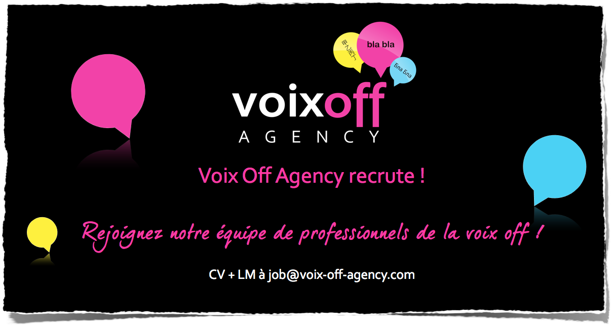 Voix Off Agency recrute