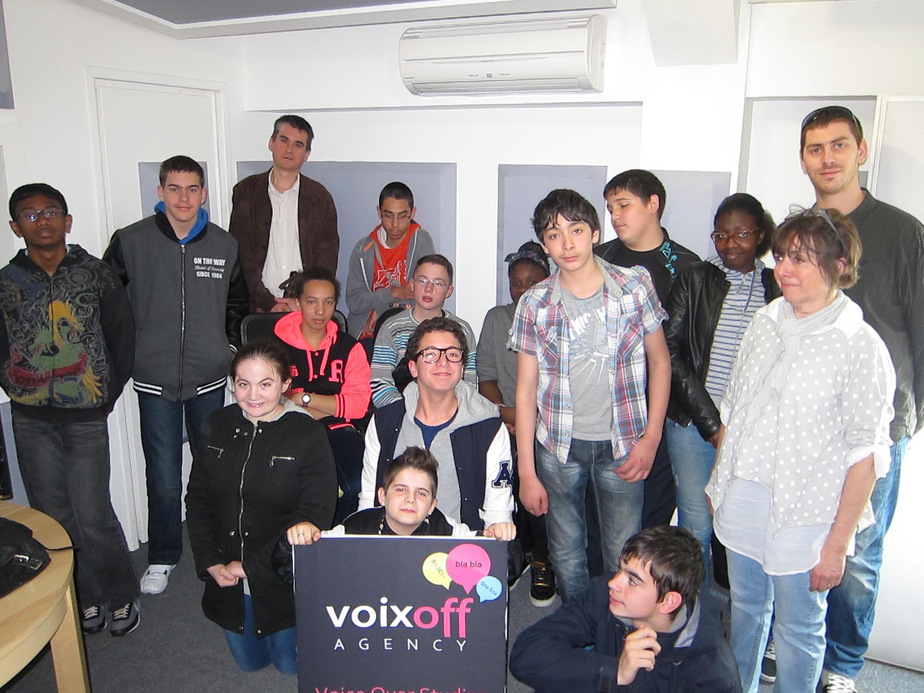Studios VOA - Visite collège Pasteur Villemomble